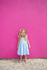 toddler blue seersucker dress