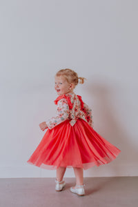 pink peony kids dress