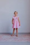 little girls pink gingham dress
