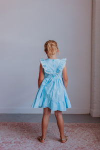 little girls special occasion light blue dress