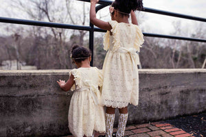 girls ivory lace dress