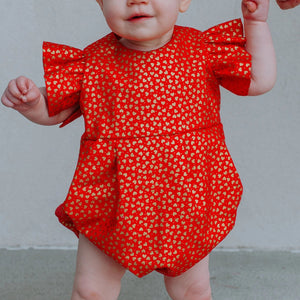 infant girls valentine's day romper