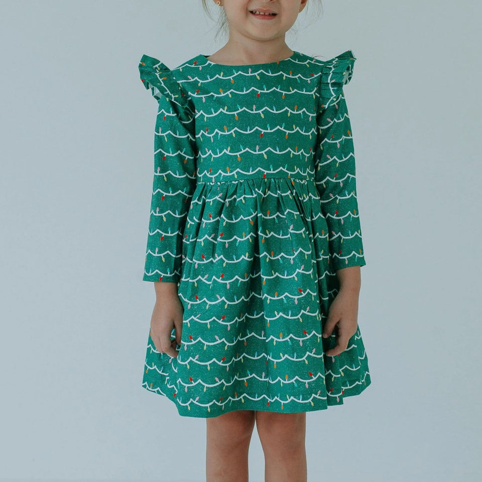 little girls christmas light dress