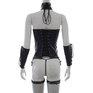3 Piece Dark Cowgirl Outfit-Good Girl xox-Three-piece suit-buy-bdsm-bondage-gear-tools-toys-online-good-girl-xox