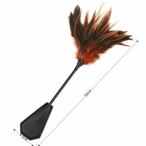 33cm Feather Crop-Good Girl xox-Brown-buy-bdsm-bondage-gear-tools-toys-online-good-girl-xox