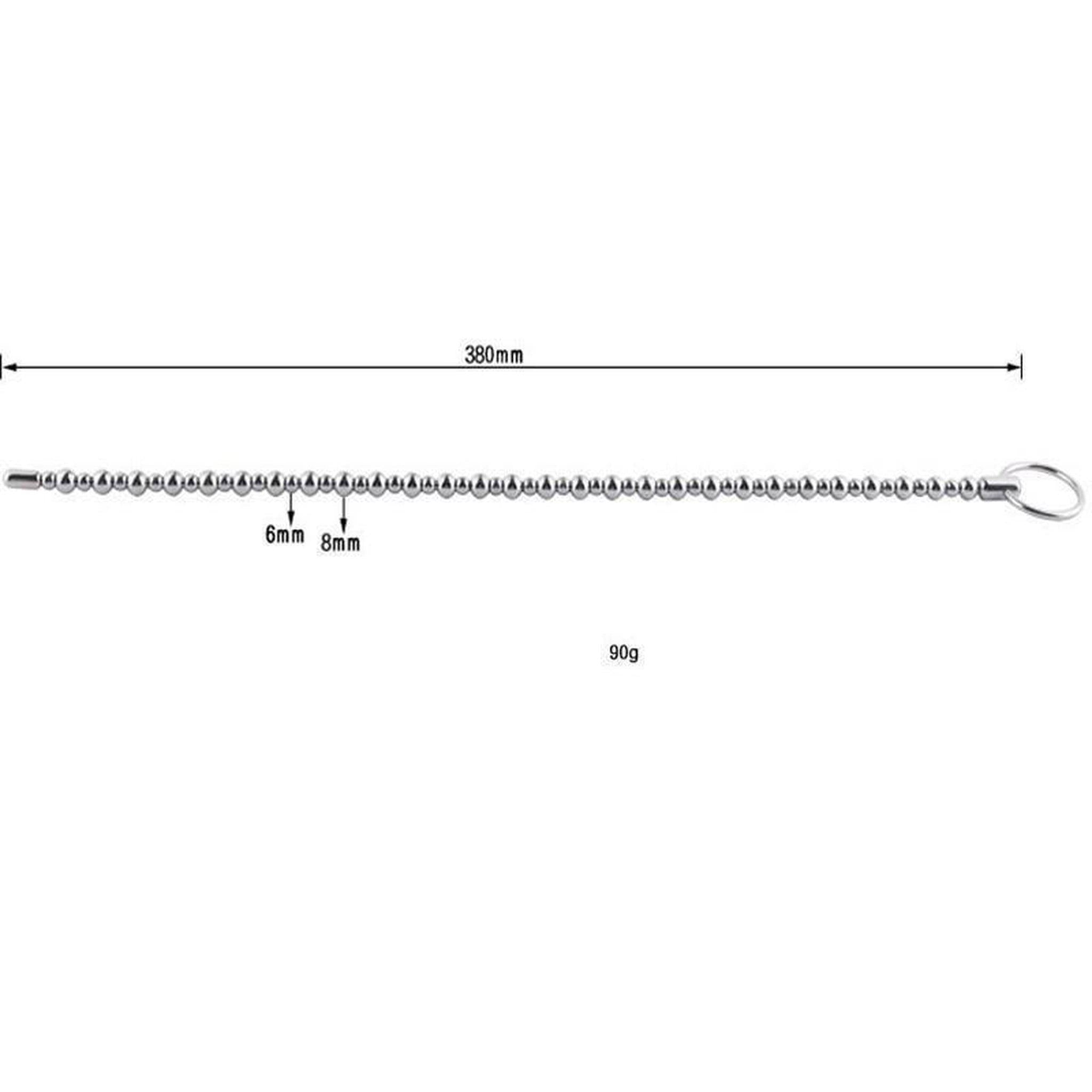 380mm Super Long Stainless Steel Urethral Sounding Beads-Good Girl xox-buy-bdsm-bondage-gear-tools-toys-online-good-girl-xox