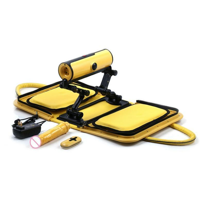 Handbag Sex Machine with Remote Control-Good Girl xox-USB Charging Yellow-buy-bdsm-bondage-gear-tools-toys-online-good-girl-xox