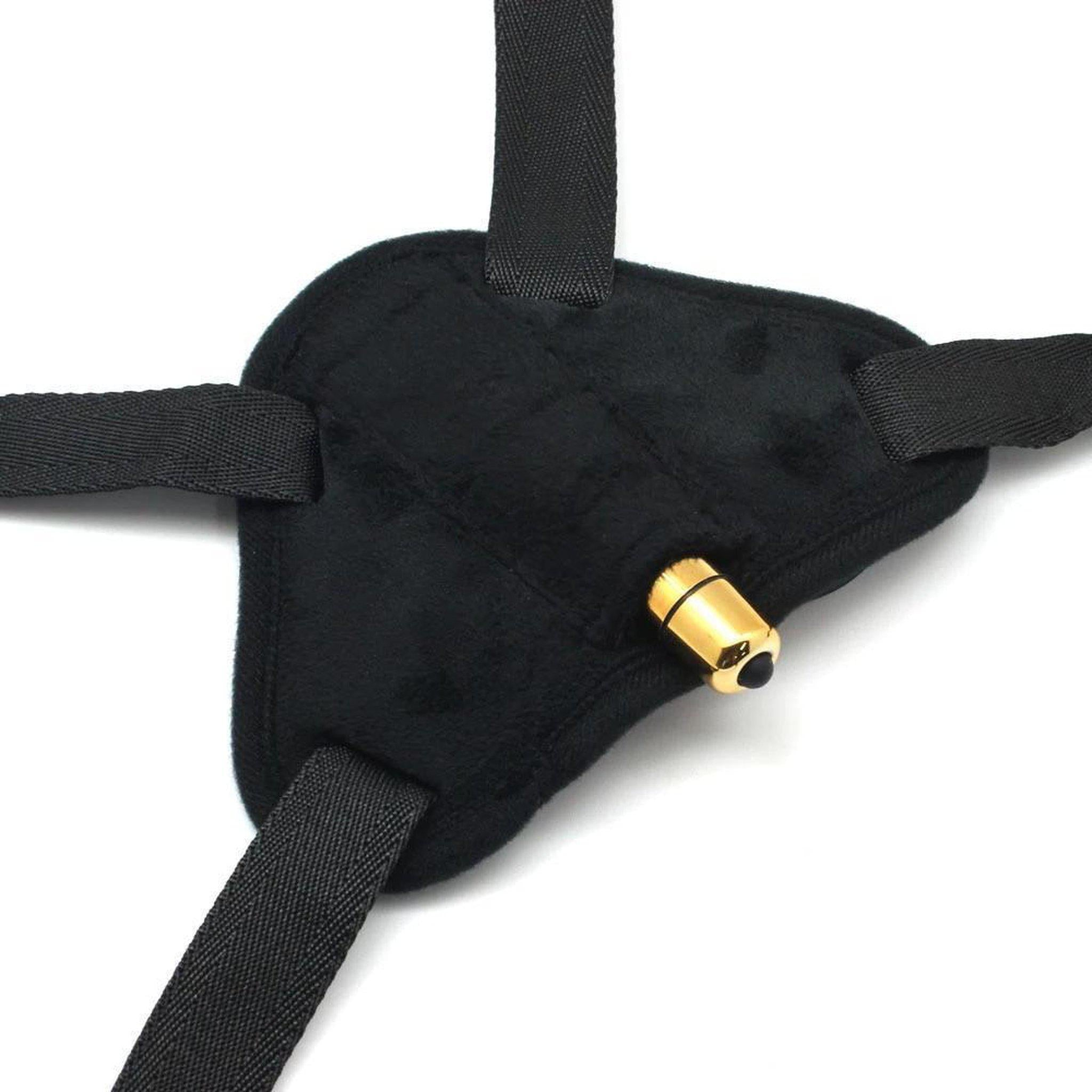 Plus Size Adjustable Strap On Dildo Harness with Bullet Vibrator-Good Girl xox-International-buy-bdsm-bondage-gear-tools-toys-online-good-girl-xox