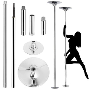 Professional Pole Dancing/Fitness/Stripper Pole - Silver/Gold 45mm-Good Girl xox-Silver-buy-bdsm-bondage-gear-tools-toys-online-good-girl-xox
