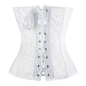 S - XXXL Mesh Bustier-Good Girl xox-White-3XL-buy-bdsm-bondage-gear-tools-toys-online-good-girl-xox
