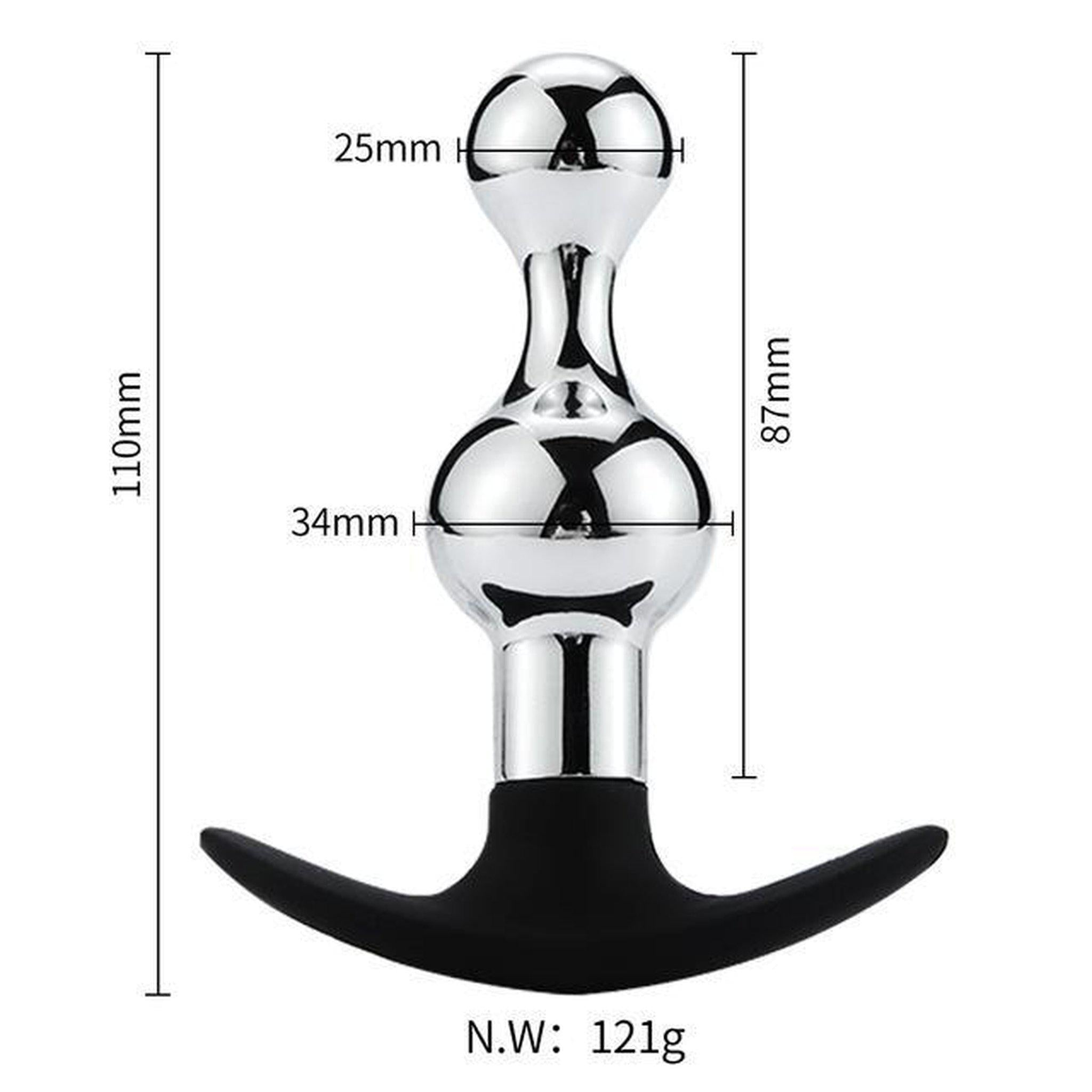 Stainless Steel Anal Plug with Sucker or T-Handle-Good Girl xox-F2-buy-bdsm-bondage-gear-tools-toys-online-good-girl-xox