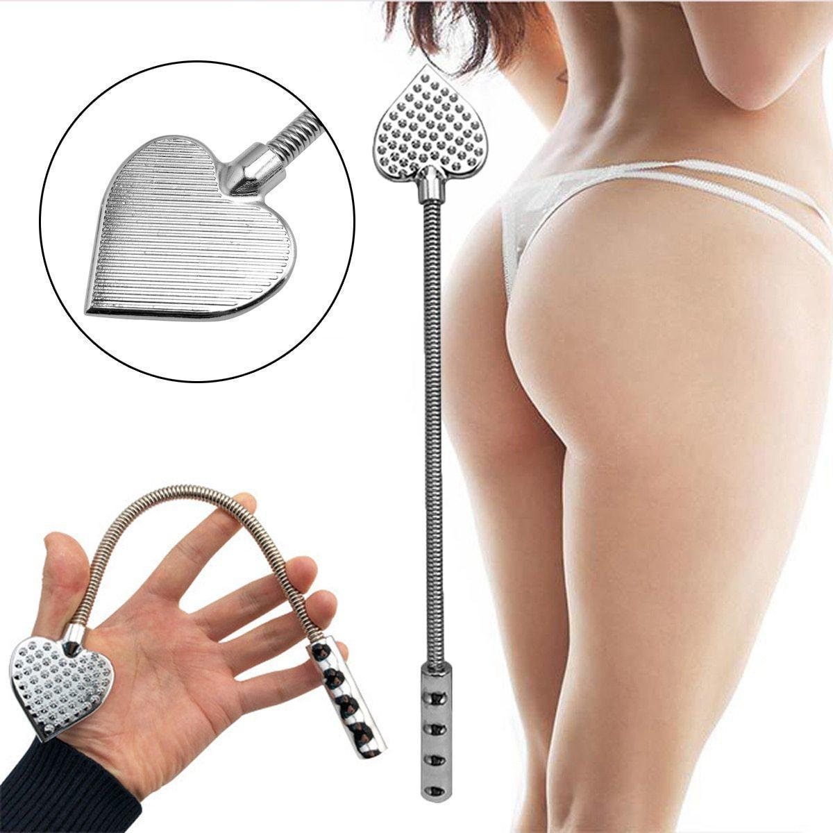 Stainless Steel Spring Shaft Crop-Good Girl xox-Silver-buy-bdsm-bondage-gear-tools-toys-online-good-girl-xox