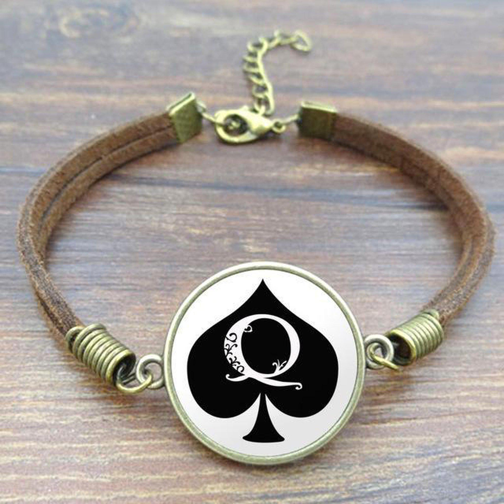 Vintage Queens of Spades Bracelet-Good Girl xox-S3570-buy-bdsm-bondage-gear-tools-toys-online-good-girl-xox
