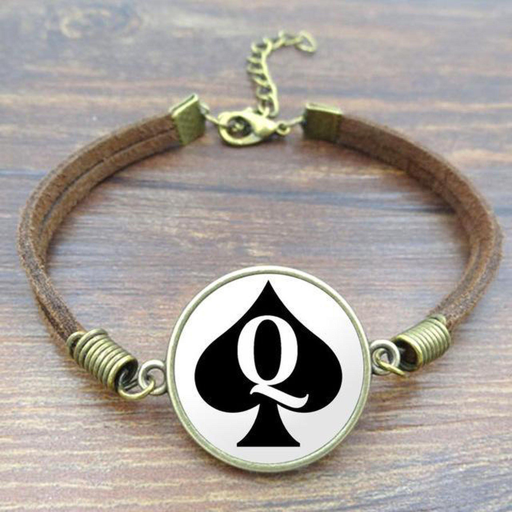 Vintage Queens of Spades Bracelet-Good Girl xox-S3572-buy-bdsm-bondage-gear-tools-toys-online-good-girl-xox