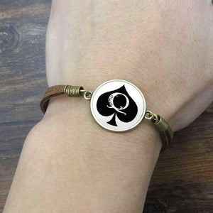 Vintage Queens of Spades Bracelet-Good Girl xox-S3573-buy-bdsm-bondage-gear-tools-toys-online-good-girl-xox