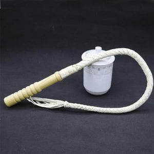 White Braided Leather Horsewhip-Good Girl xox-1m-buy-bdsm-bondage-gear-tools-toys-online-good-girl-xox