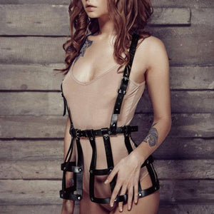 Women's Leather Dress-Good Girl xox-One Size-buy-bdsm-bondage-gear-tools-toys-online-good-girl-xox
