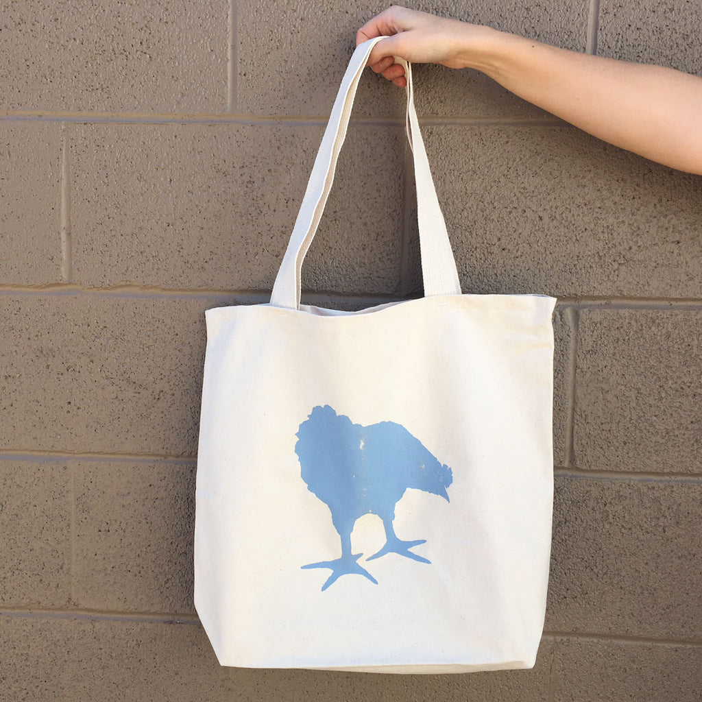 Chicken Blue Tote