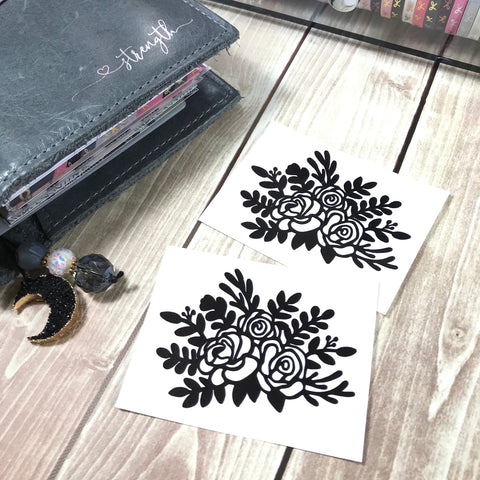 Floral Vinyl Decal- Roses