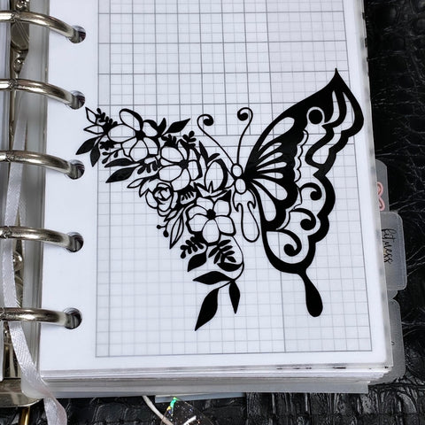Serene Butterfly Vinyl Decal