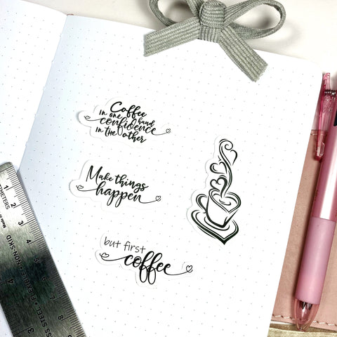 Coffee & Confidence Sticker Pack