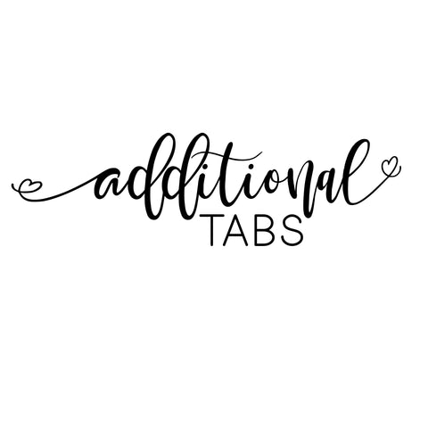 Additional Tabs