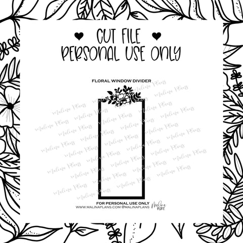 *DIGITAL* FLORAL WINDOW DIY PAGEMARKER