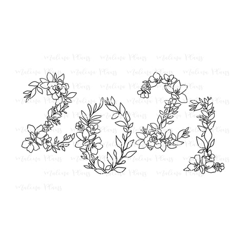 Floral 2021 Digital Download- B&W Offset