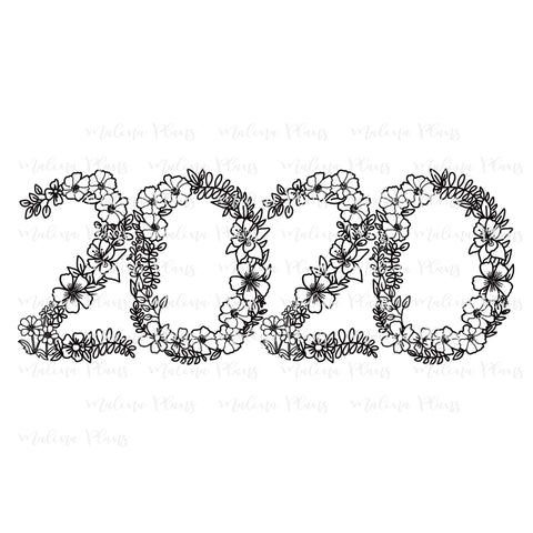 Floral 2020 Digital Download- Horizontal