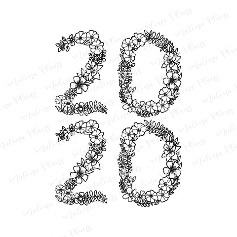 Floral 2020 Digital Download- Stacked