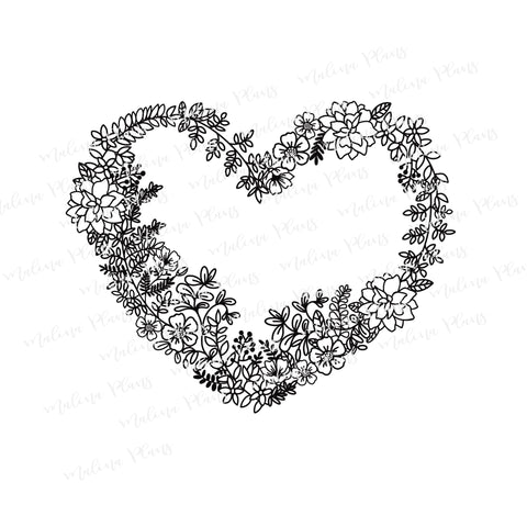 Floral Heart Digital Download