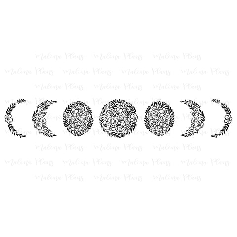 Floral Moon Phase Digital Download