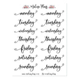 Heart Letters/Days of the Week Planner Stickers