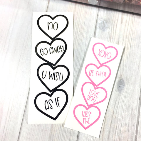 XOXO DIY Page Marker- vinyl only
