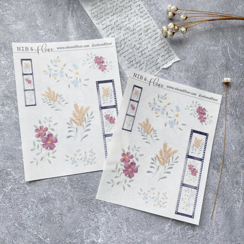 Filmstrip Florals Sticker Sheet