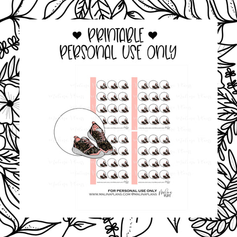 *DIGITAL* MICRO STICKER SHEETS- STEPS- BLACK & PEACH