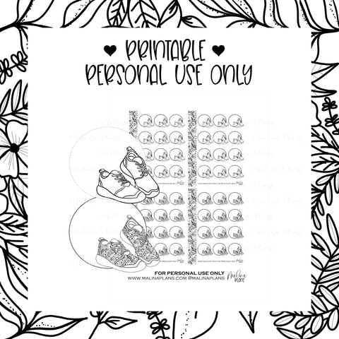 *DIGITAL* MICRO STICKER SHEETS- STEPS- BLACK & WHITE DOODLES
