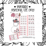 *DIGITAL* MICRO STICKER SHEETS- PINK COLLECTION