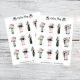 Sparkling New Year Sticker Sheet- Bouquets