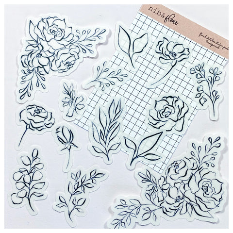 Floral Sketches Sticker Pack