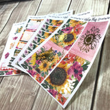 RESTOCK Foiled Mini Sticker Kit- Sunflowers