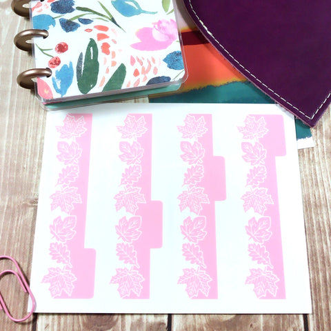 Fall Leaves Vinyl Divider Tabs- SIDE TABS