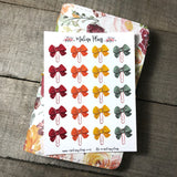 Fall Hues Bow Clip Stickers