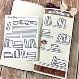 Bookshelf Sticker Sheet