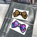 Two Tone Bow Vinyl Decal