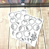 Hexagon Florals Sticker Sheet