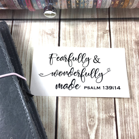 """Fearfully and wonderfully made"" Vinyl Decal"