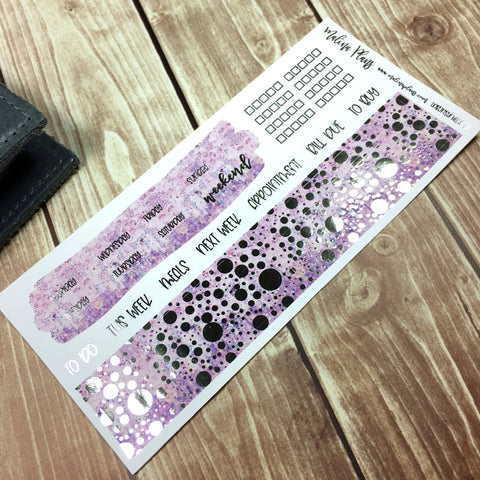 Lavender Silver Foiled Hobonichi Weeks Kit
