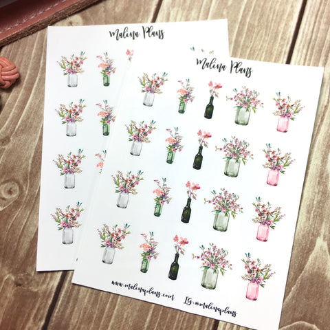 Cherry Blossom Sticker Sheet- Bouquets