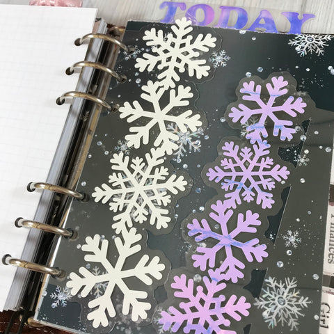 Snowflakes DIY Page Marker- vinyl only
